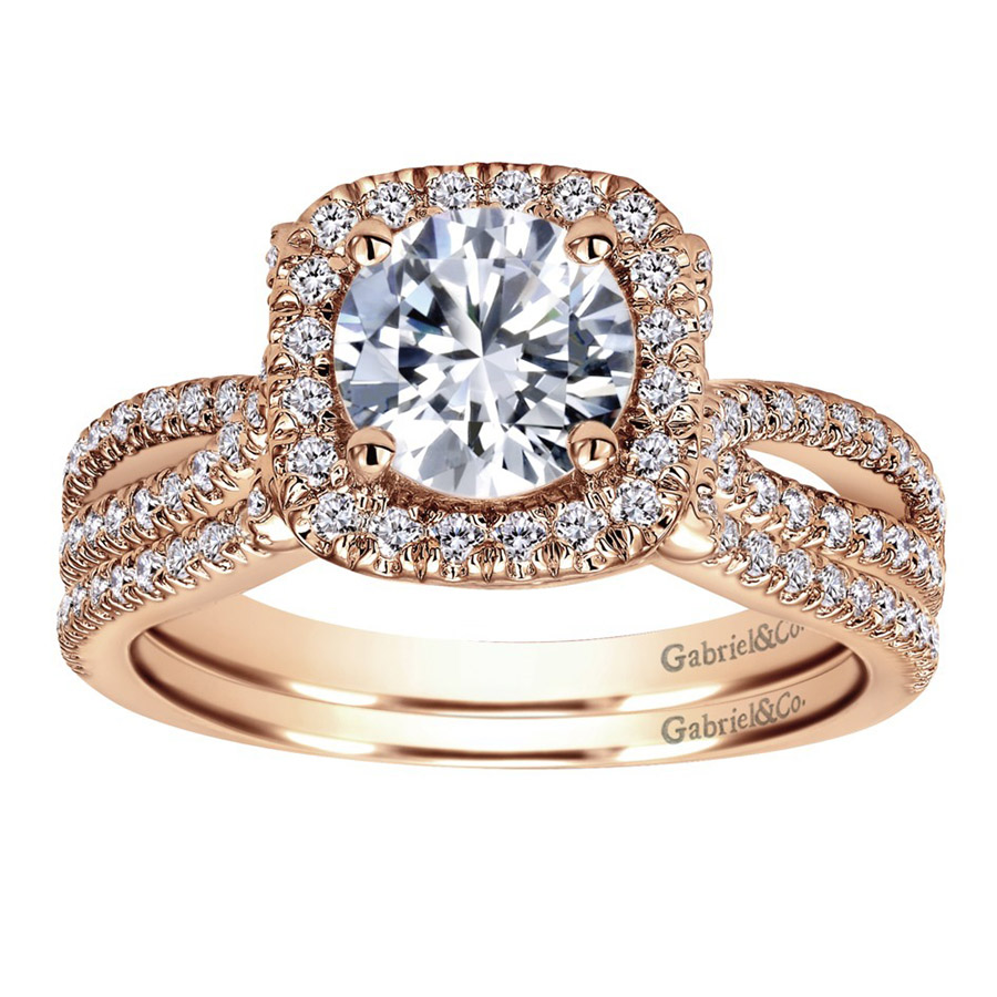 Gabriel 14 Karat Contemporary Engagement Ring ER7806K44JJ Alternative View 3