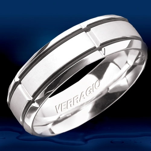 Verragio Platinum In-Gauge Wedding Band RU-7004 Alternative View 1