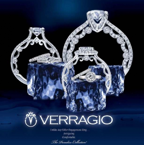 Verragio Platinum Paradiso Engagement Ring Paradiso-3047 R Alternative View 1