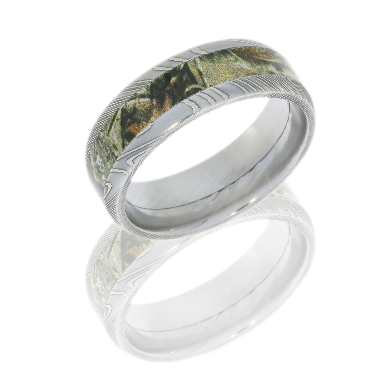 Lashbrook DCAMO8D14_RTAP POLISH Camo Wedding Ring Or Band