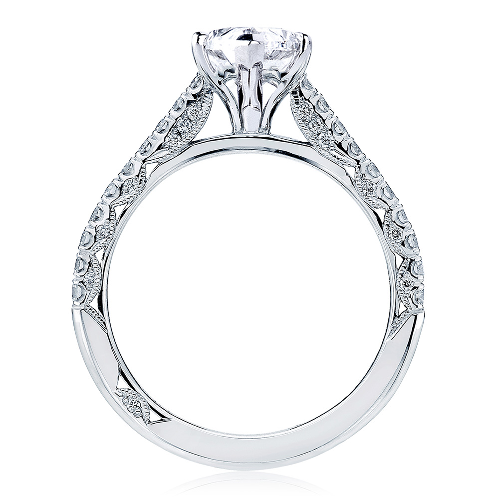 HT2546MQ10x5 Platinum Tacori Petite Crescent Engagement Ring Alternative View 1