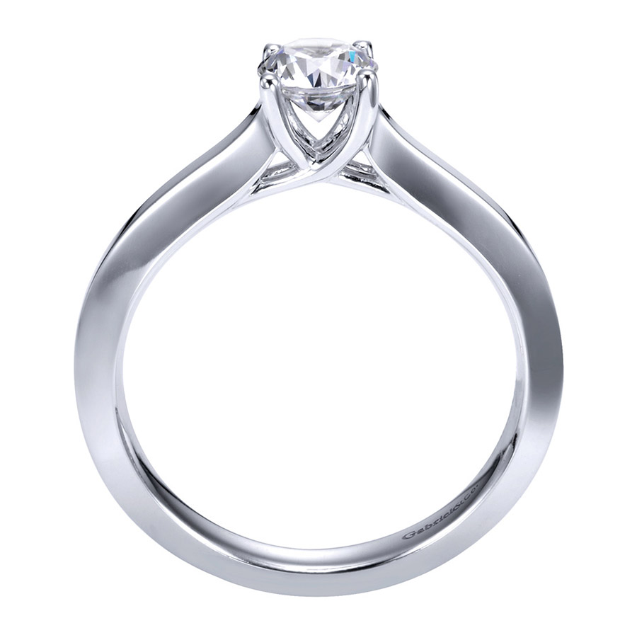 Gabriel Platinum Contemporary Engagement Ring ER6609PTJJJ Alternative View 1
