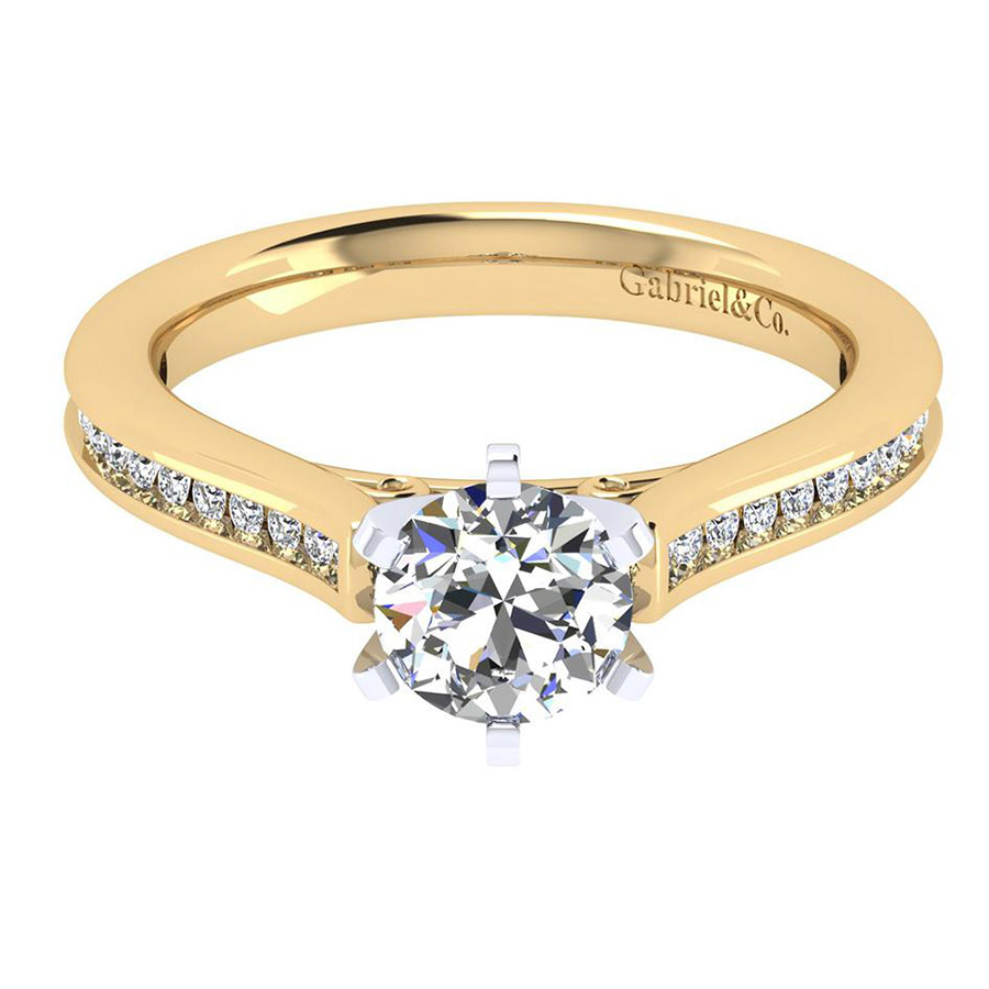 Gabriel 14 Karat Contemporary Engagement Ring ER6674M44JJ