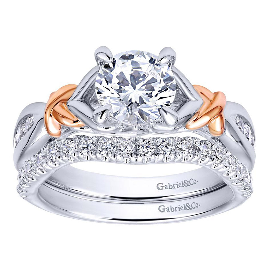 Gabriel 14 Karat Contemporary Engagement Ring ER10456T44JJ Alternative View 3