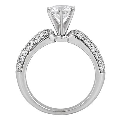 Taryn Collection Platinum Diamond Engagement Ring TQD A-1111 Alternative View 1