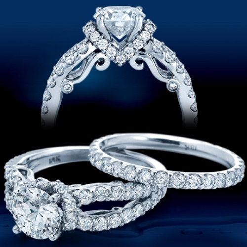Verragio Platinum Insignia Engagement Ring INS-7013 Alternative View 1