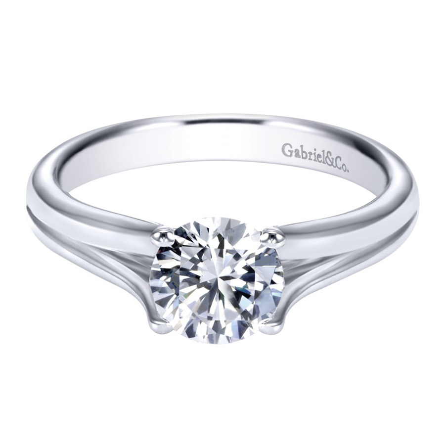 Gabriel Platinum Contemporary Engagement Ring ER7516PTJJJ