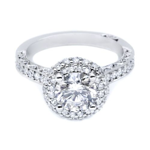 HT2522RD7 Tacori Crescent Platinum Engagement Ring Alternative View 2