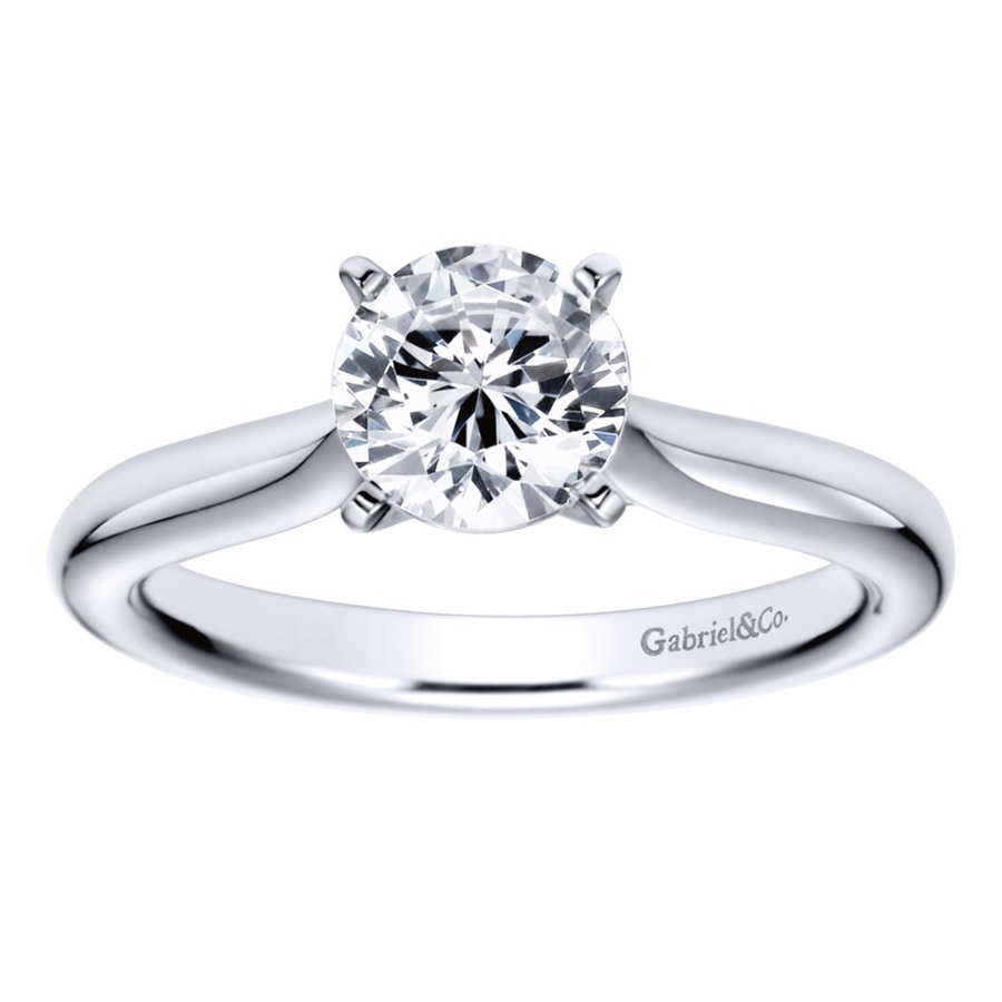 Gabriel Platinum Contemporary Engagement Ring ER6684PTJJJ Alternative View 4