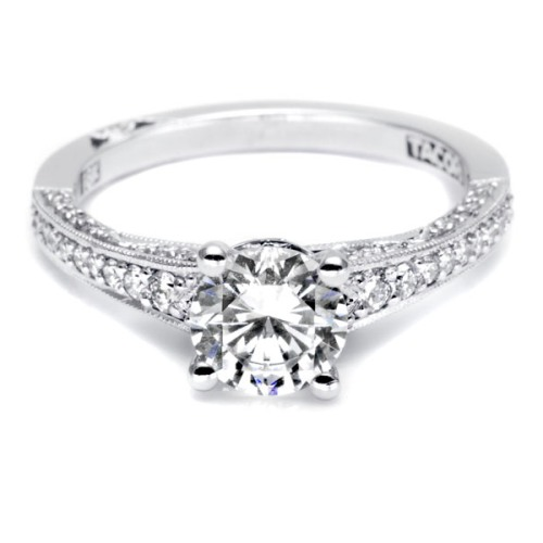Tacori Platinum Simply Tacori Engagement Ring 3006-3000RD65 Alternative View 2