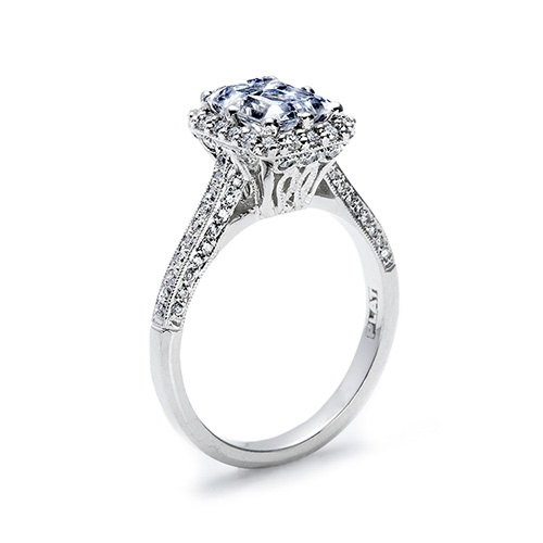 Tacori Platinum Solitaire Engagement Ring 2502EMP8X6 Alternative View 1
