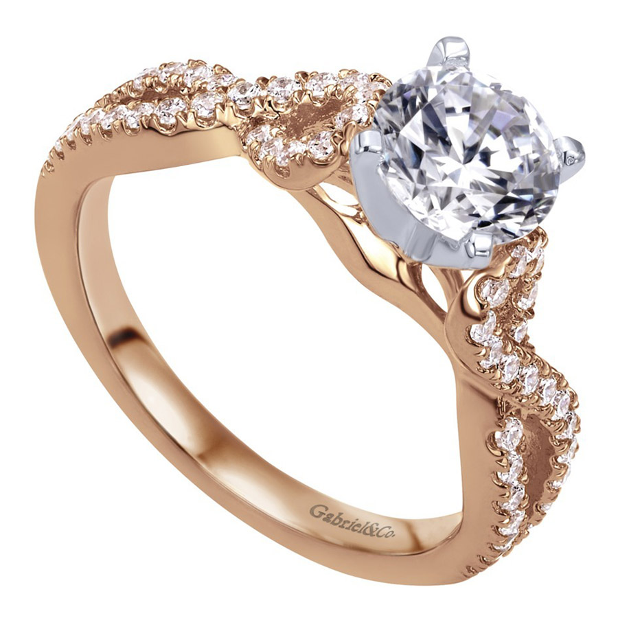 Gabriel 14 Karat Contemporary Engagement Ring ER7805T44JJ Alternative View 2