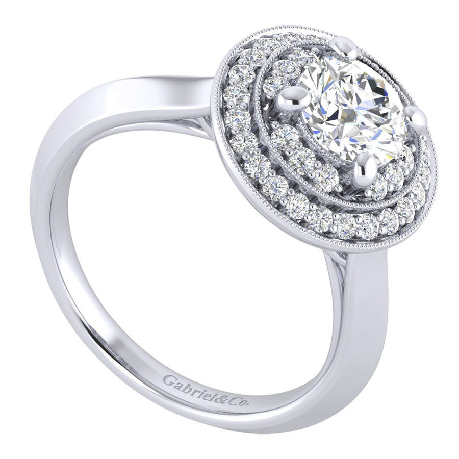 Gabriel 14 Karat Perfect Match Engagement Ring ER001B4AHW44JJ Alternative View 2