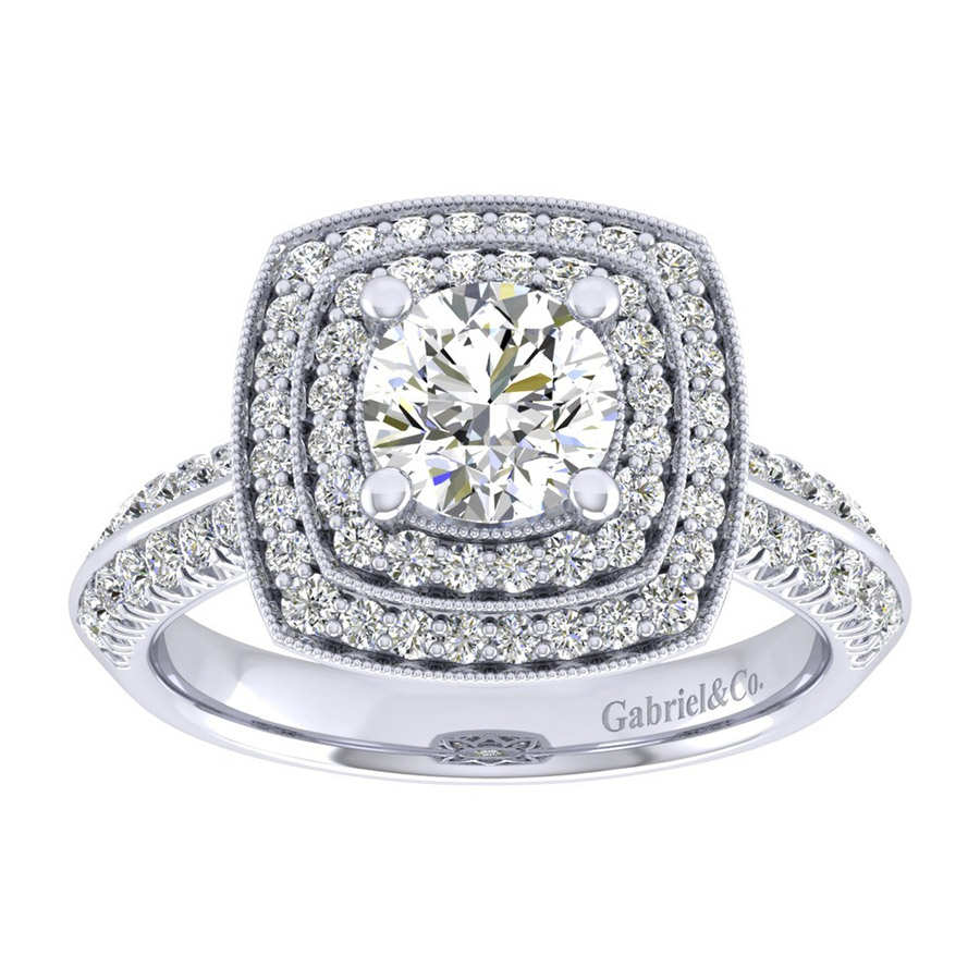 Gabriel 14 Karat Perfect Match Engagement Ring ER002B4AGW44JJ Alternative View 4