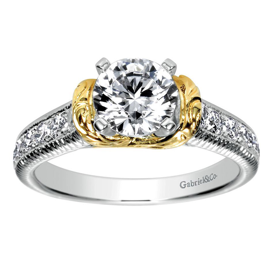 Gabriel 14 Karat Contemporary Engagement Ring ER9238M44JJ Alternative View 4