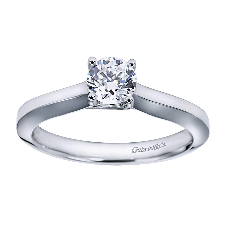 Gabriel Platinum Contemporary Engagement Ring ER6609PTJJJ Alternative View 4