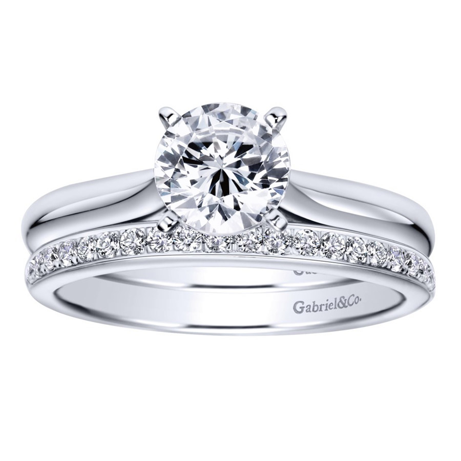 Gabriel Platinum Contemporary Engagement Ring ER6684PTJJJ Alternative View 3