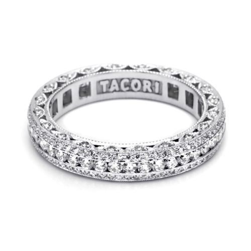 Tacori HT2513RDB Platinum Wedding Band Alternative View 2