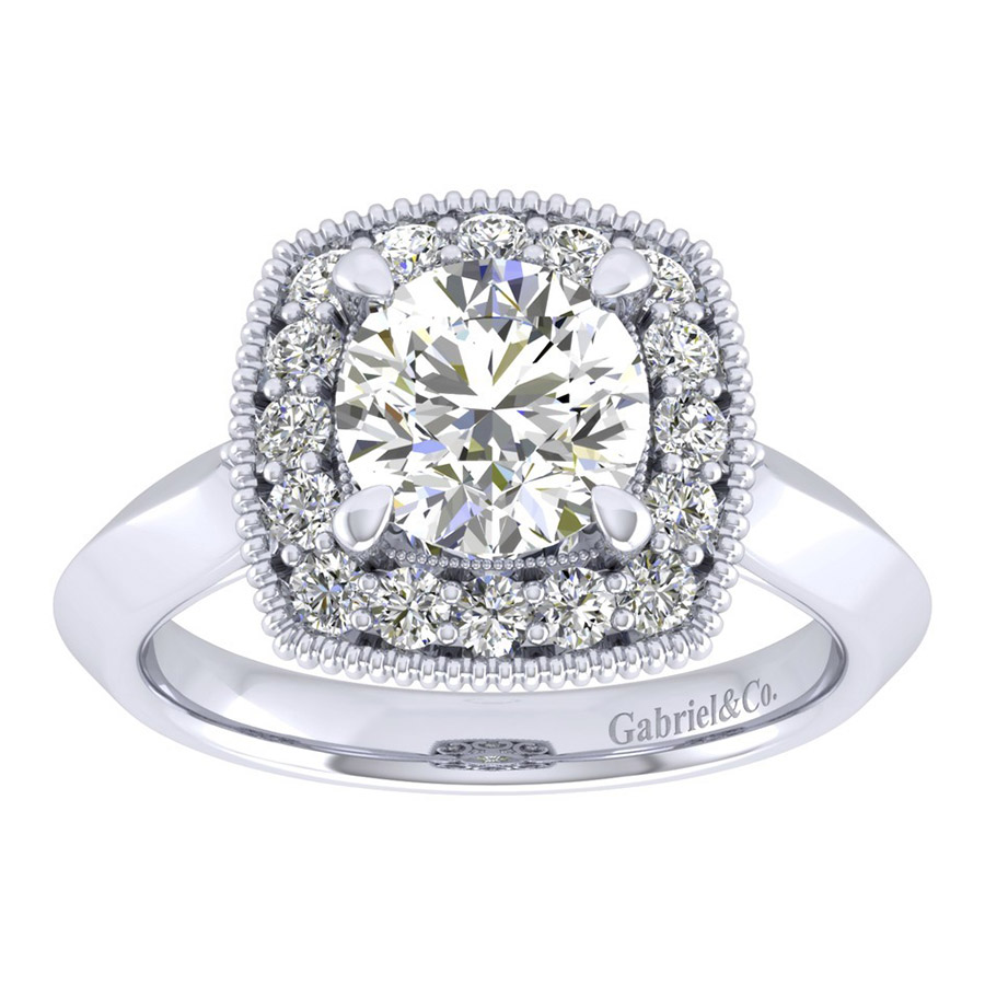 Gabriel 14 Karat Perfect Match Engagement Ring ER001C6ABW44JJ Alternative View 4