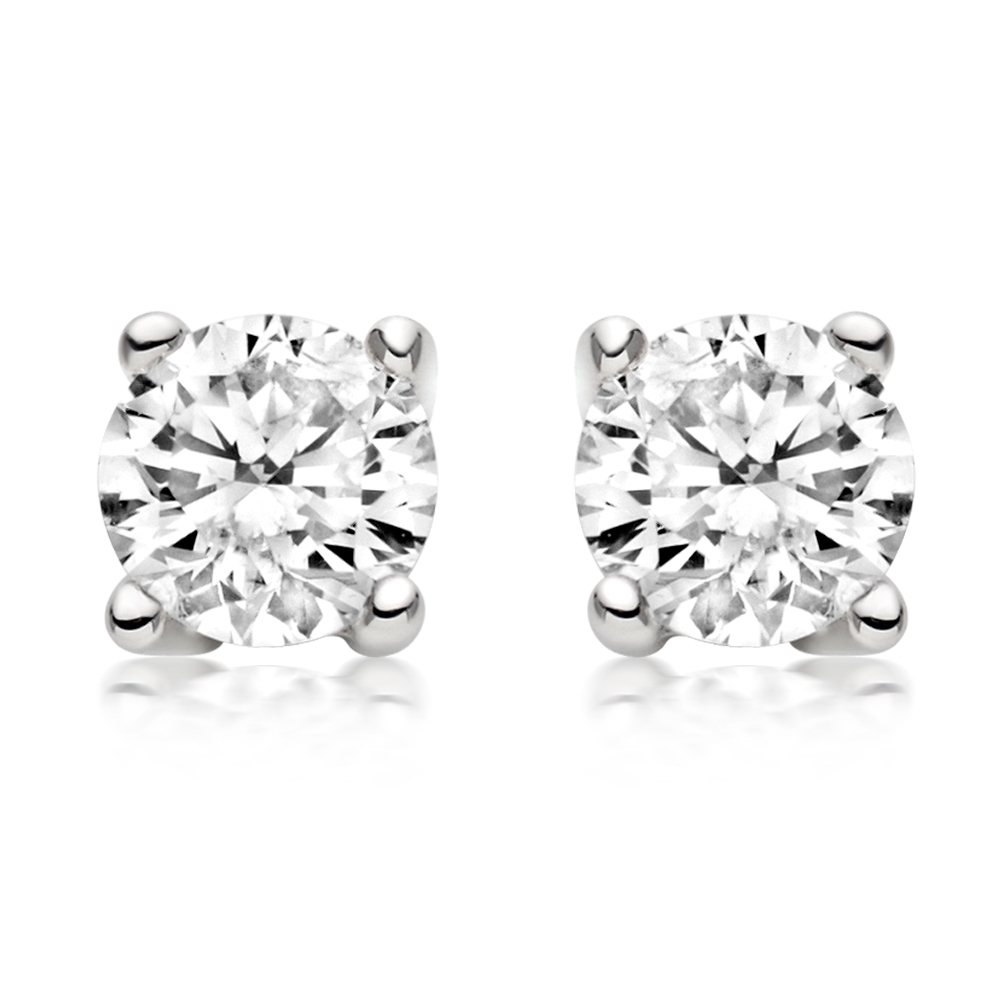 white stud ct jewelryimg diamond gold in earrings prong four dimond