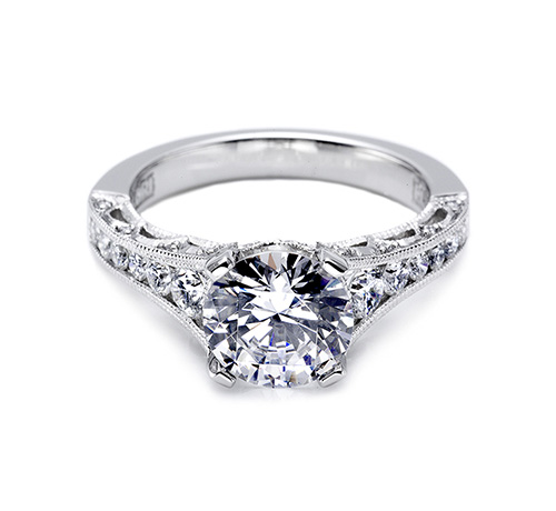 Tacori Platinum Crescent Engagement Ring HT25105.5