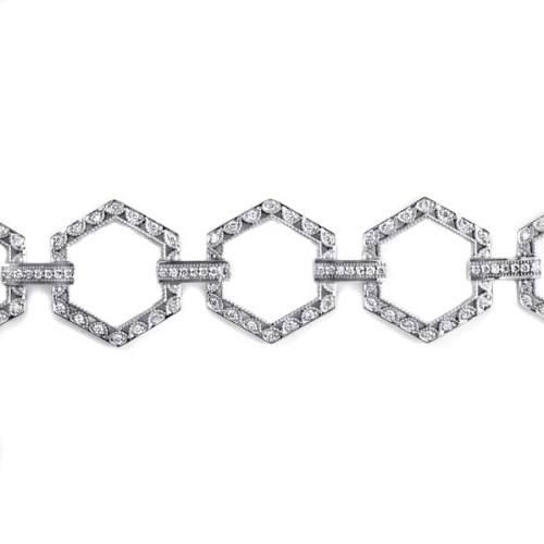 Tacori Diamond Bracelet Platinum Fine Jewelry FB592 Alternative View 1