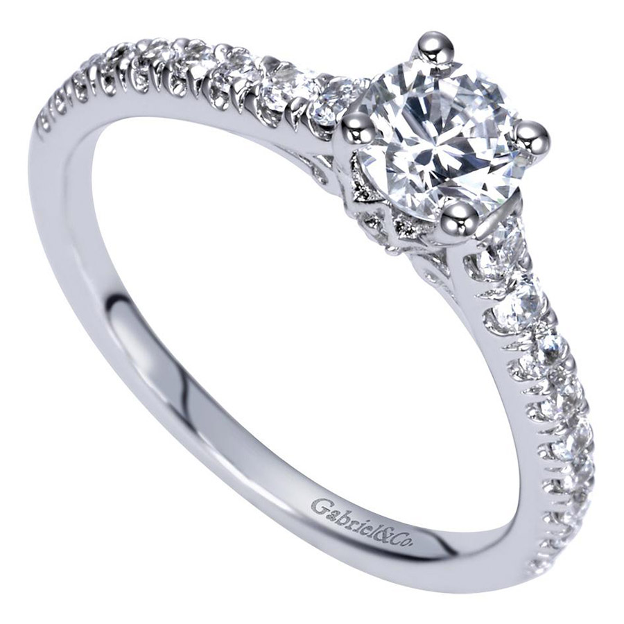 Gabriel 14 Karat Contemporary Engagement Ring ER98590W44JJ Alternative View 2