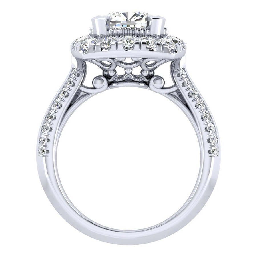 Gabriel 14 Karat Perfect Match Engagement Ring ER002C8AJW44JJ Alternative View 1