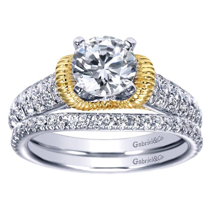 Gabriel 14 Karat Contemporary Engagement Ring ER9533M44JJ Alternative View 3