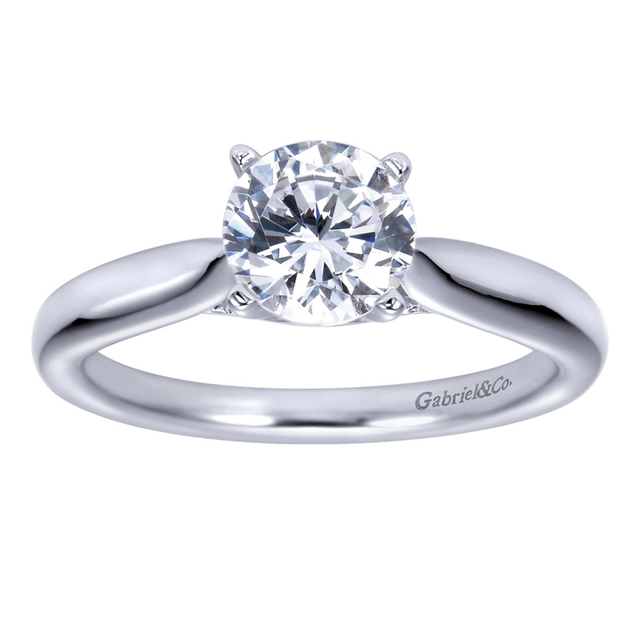 Gabriel Platinum Contemporary Engagement Ring ER7894PTJJJ Alternative View 4