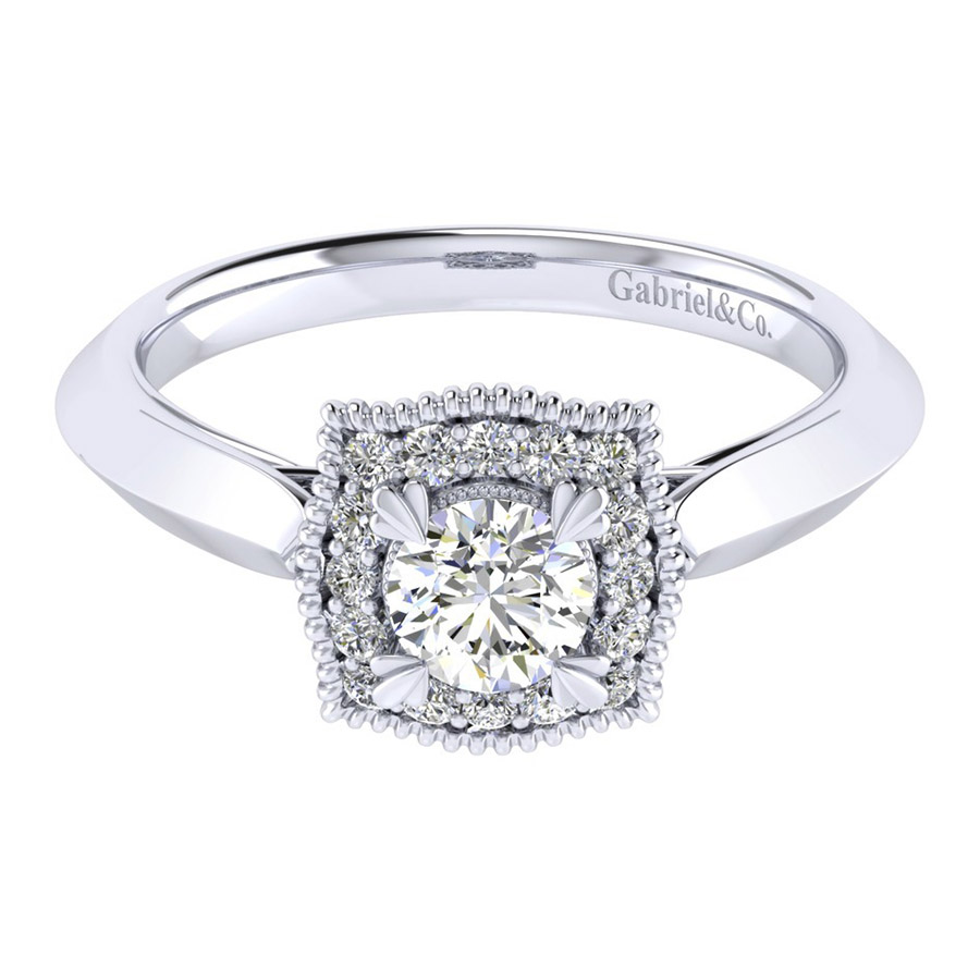 Gabriel 14 Karat Perfect Match Engagement Ring ER001A2AAW44JJ