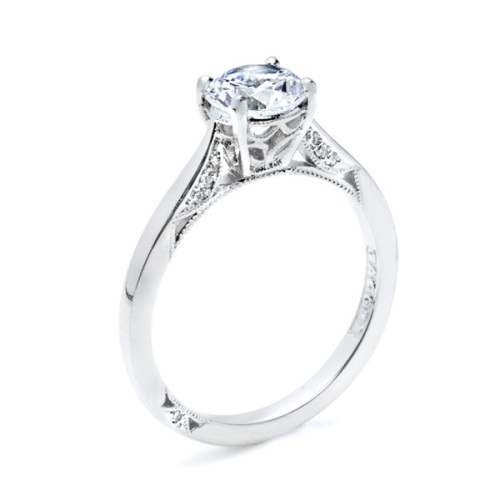 Tacori Dantela 18 Karat Engagement Ring 2638RD65 Alternative View 3