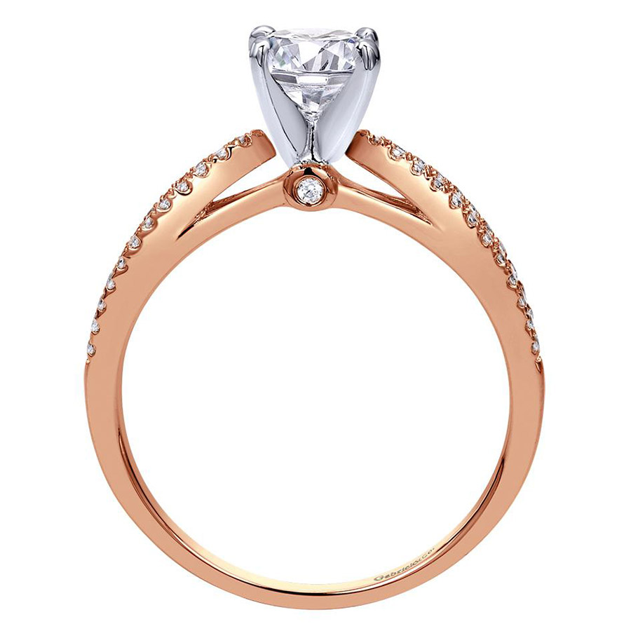 Gabriel 14 Karat Contemporary Engagement Ring ER8129T44JJ Alternative View 1