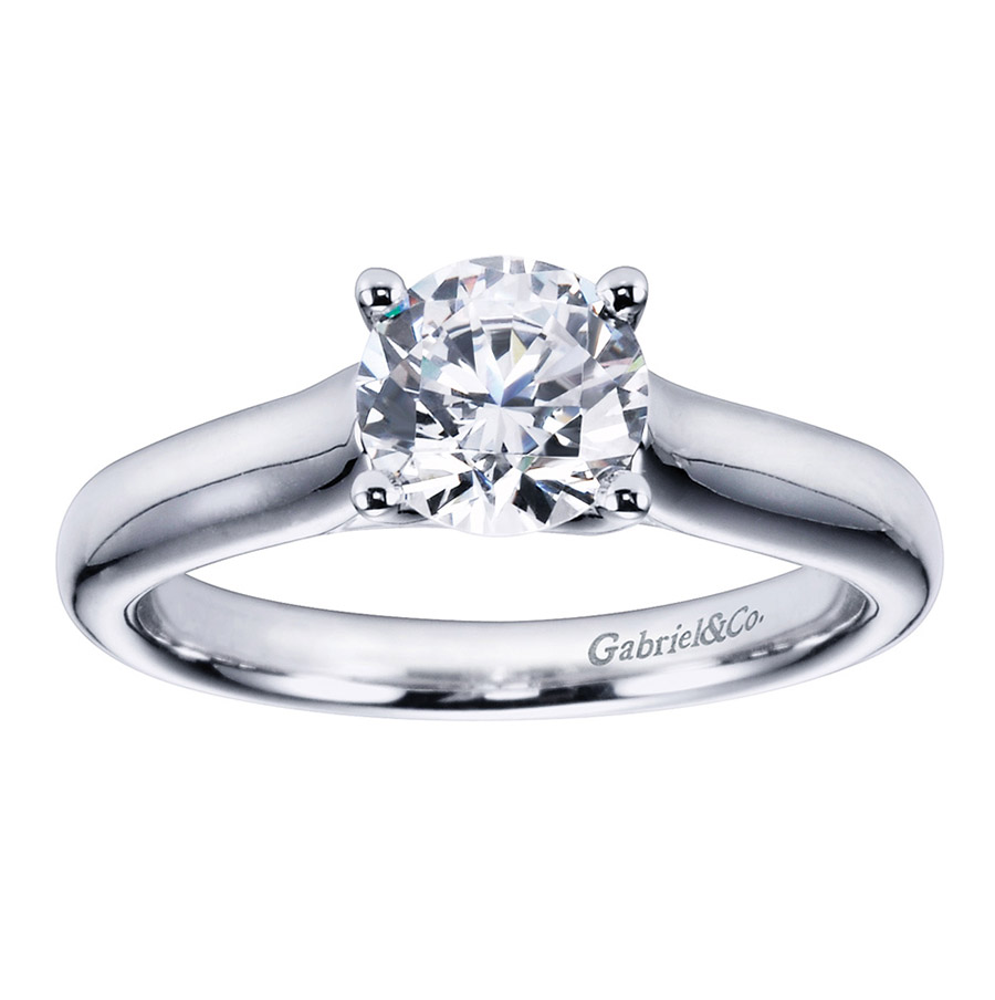 Gabriel Platinum Contemporary Engagement Ring ER6601PTJJJ Alternative View 4