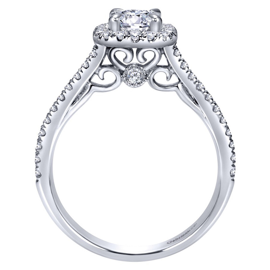 Gabriel 14 Karat Contemporary Engagement Ring ER98520W44JJ Alternative View 1