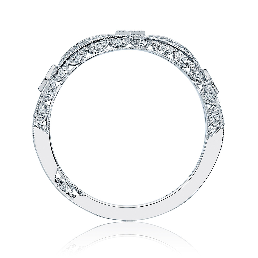 HT2528B12 Platinum Tacori Ribbon Diamond Wedding Ring Alternative View 1