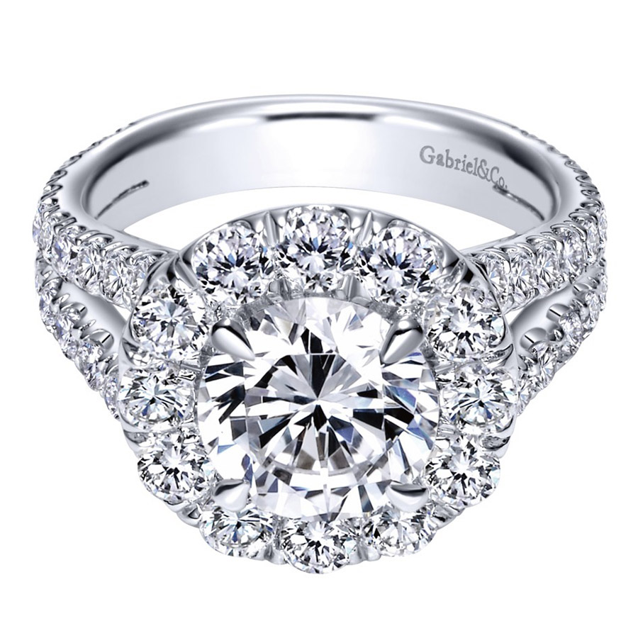 Gabriel 14 Karat Contemporary Engagement Ring ER8326W83JJ