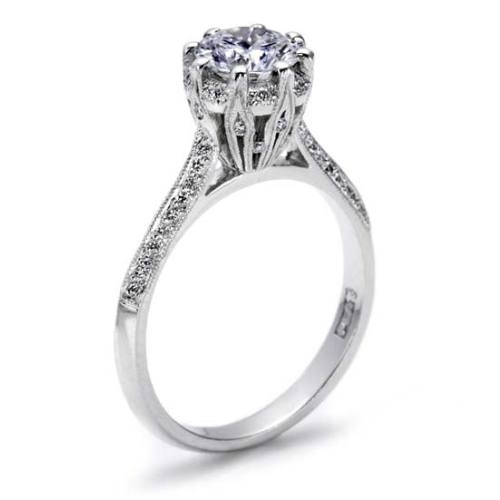 Tacori Platinum Solitaire Engagement Ring 2504RDP65 Alternative View 1
