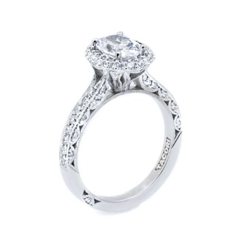 HT2522OV8X6 Tacori Crescent Platinum Engagement Ring Alternative View 3