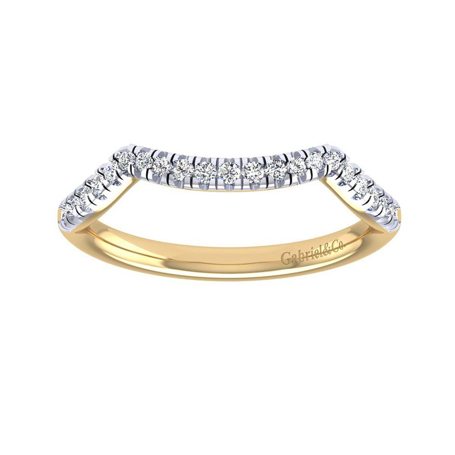 Gabriel 14 Karat Contemporary Wedding Band WB7517Y44JJ Alternative View 4