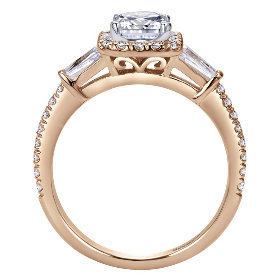 Gabriel 14 Karat Contemporary Engagement Ring ER8354K44JJ Alternative View 1