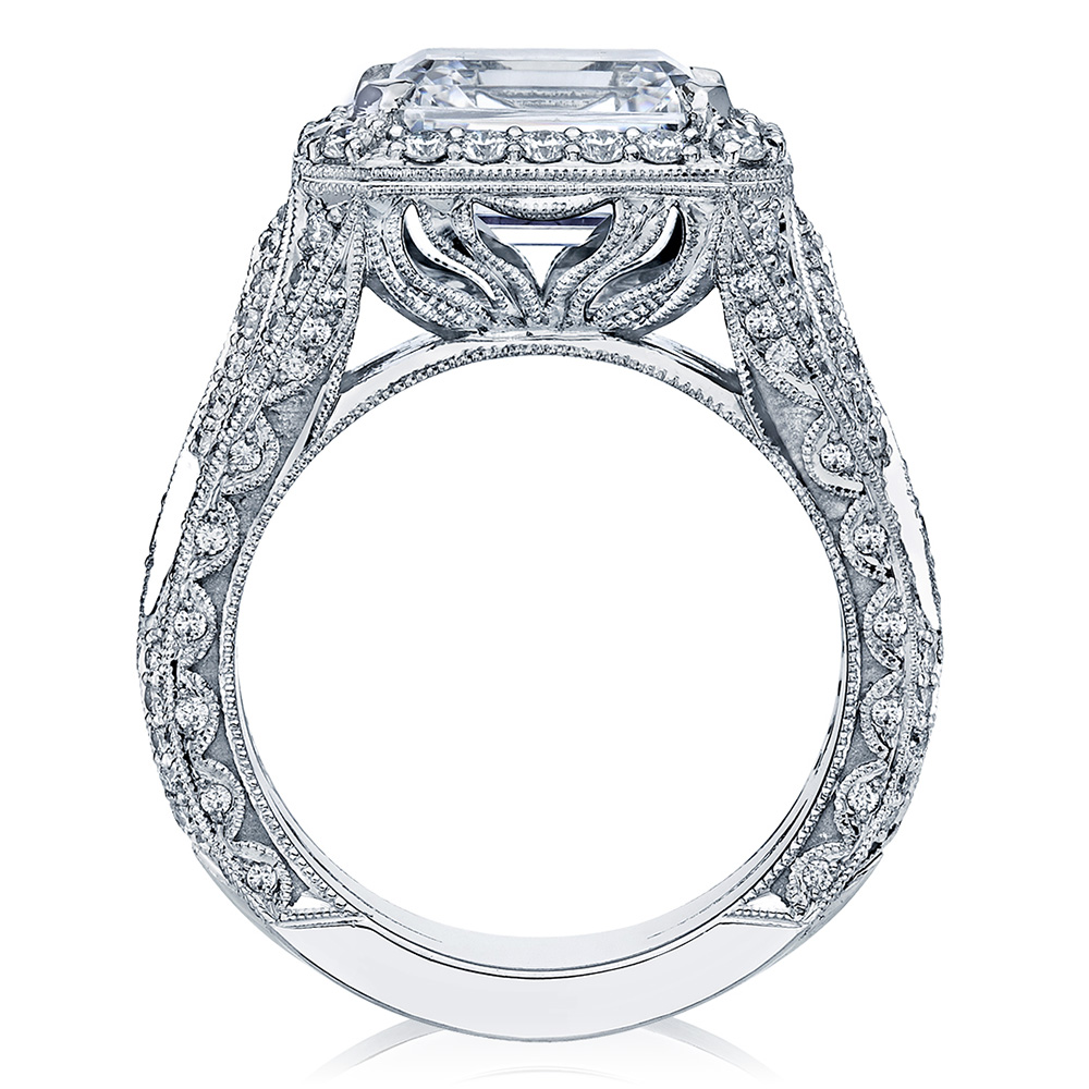 HT2610EC10X8 Platinum Tacori RoyalT Engagement Ring Alternative View 1