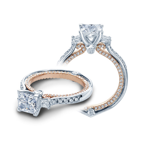 Verragio Couture-0422DP-TT Platinum Engagement Ring