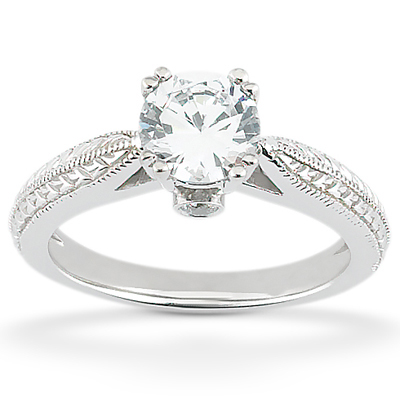 Taryn Collection Platinum Diamond Engagement Ring TQD 7198