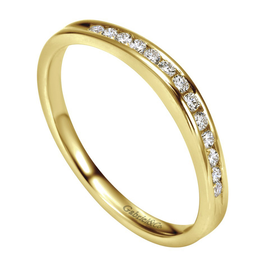 Gabriel 14 Karat Contemporary Wedding Band WB2150Y44JJ Alternative View 2