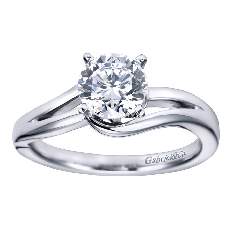 Gabriel Platinum Contemporary Engagement Ring ER6680PTJJJ Alternative View 4