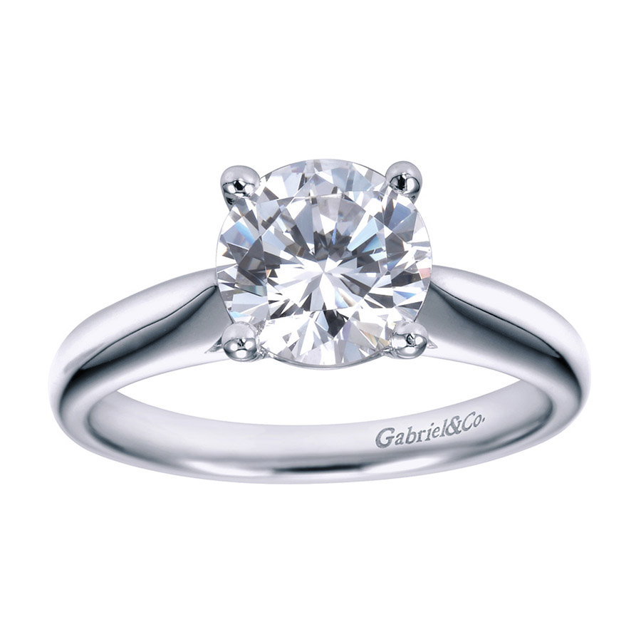 Gabriel Platinum Contemporary Engagement Ring ER6659PTJJJ Alternative View 4