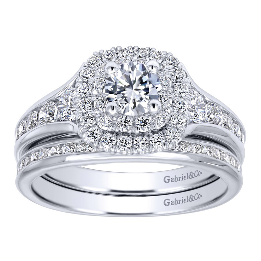 Gabriel 14 Karat Contemporary Engagement Ring ER910162W44JJ Alternative View 3