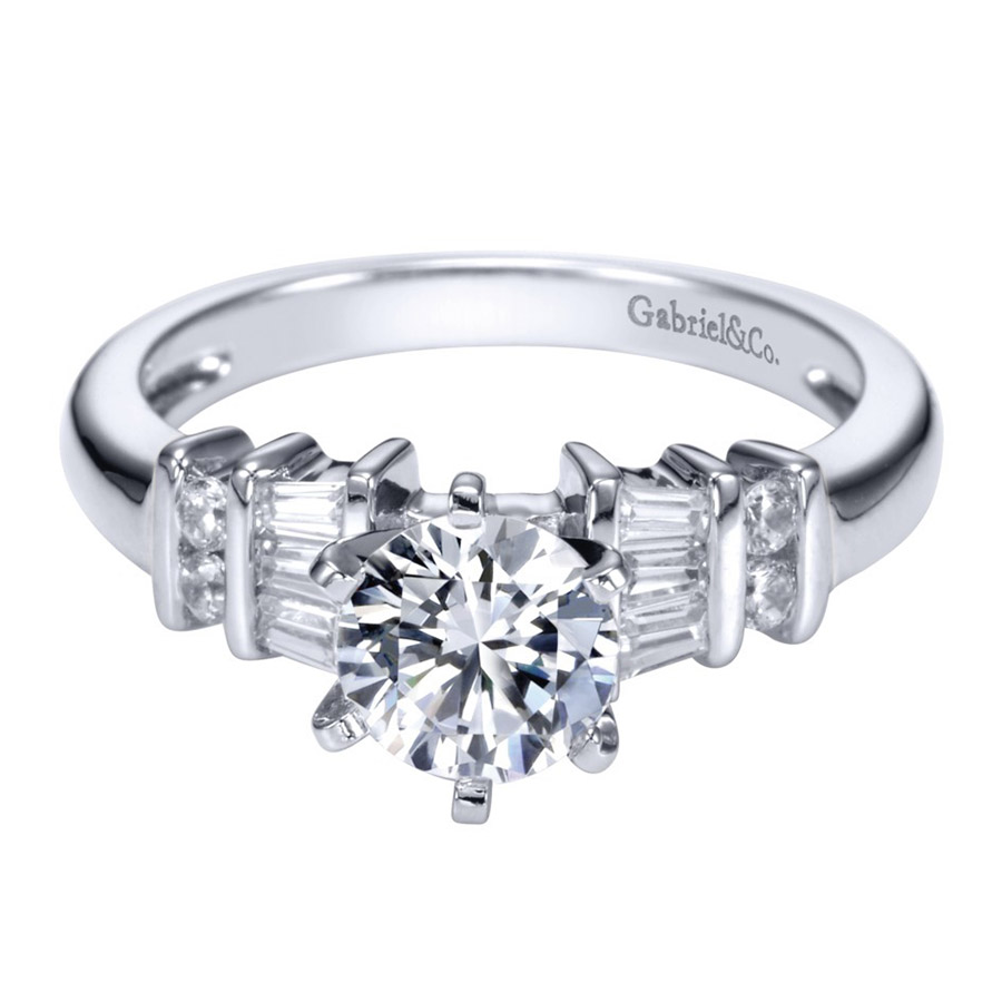 Gabriel 14 Karat Contemporary Engagement Ring ER2662PT3JJ