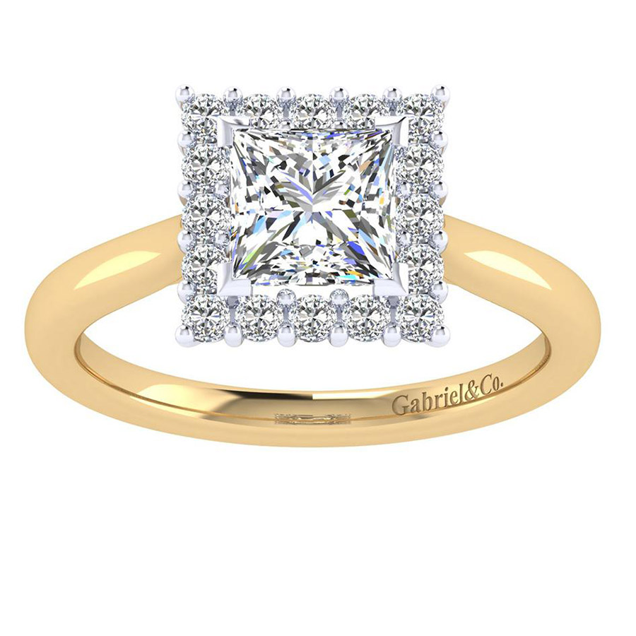 Gabriel 14 Karat Contemporary Engagement Ring ER7499M44JJ Alternative View 4
